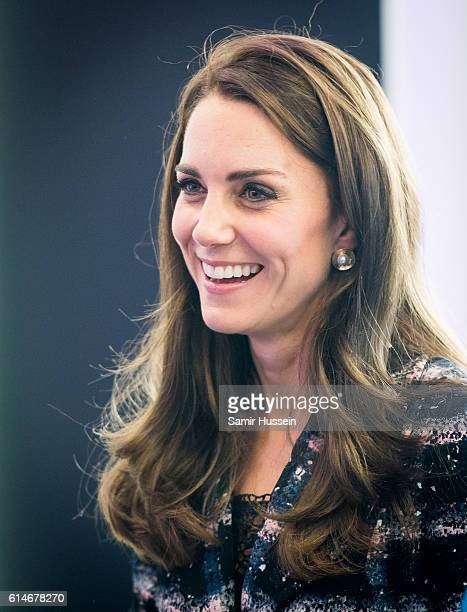 Catherine Duchess of Cambridge smiles at the National Graphene Institute on October 14 2016 in Manchester England