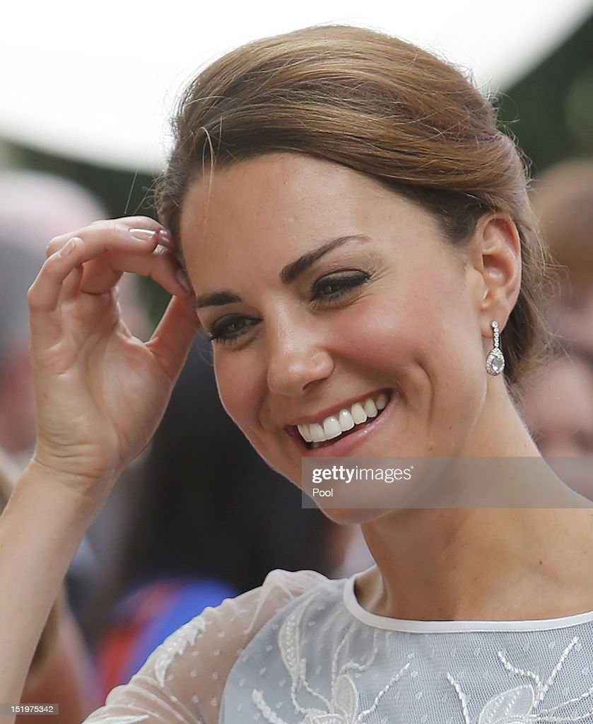 Catherine, Duchess of Cambridge smiles during a tea party at the British High Commission on day 4 of Prince William, Duke of Cambridge and Catherine, Duchess of Cambridge's Diamond Jubilee Tour of the Far East on September 14, 2012 in Kuala Lumpur, Malaysia. Prince William, Duke of Cambridge and Catherine, Duchess of Cambridge are on a Diamond Jubilee Tour of the Far East taking in Singapore, Malaysia, the Solomon Islands and the tiny Pacific Island of Tuvalu.