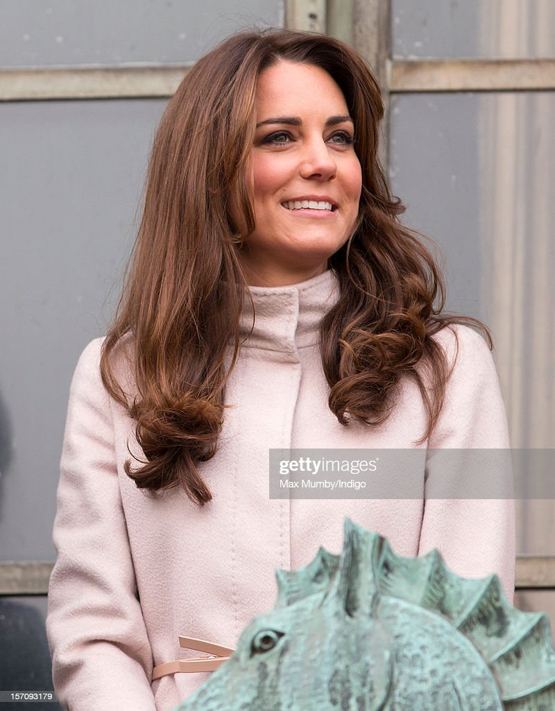 Catherine, Duchess of Cambridge stands on the balcony of The Guildhall during her and husband Prince William, Duke of Cambridge's first official visit to Cambridge on November 28, 2012 in Cambridge, England.