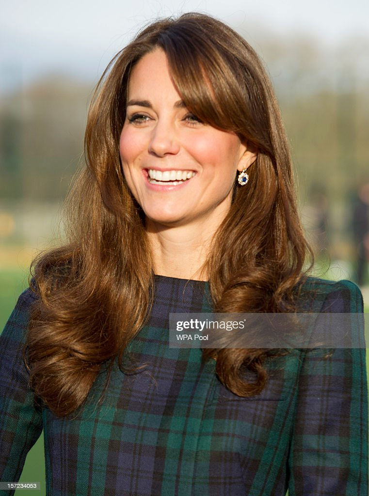 <a gi-track='captionPersonalityLinkClicked' href=/galleries/search?phrase=Catherine+-+Duchess+of+Cambridge&family=editorial&specificpeople=542588 ng-click='$event.stopPropagation()'>Catherine</a>, Duchess of Cambridge takes part in a day of activities and festivities to mark the occasion of St Andrew's Day at St Andrew's School on November 30, 2012 in Pangbourne, Berkshire, England. The Duchess visited the Pre-Prep School for under-5s, unveiled a plaque to officially open a new artificial turf playing field and met members of the school's hockey team, which she played for during her time as a pupil at the school (1986-1995). The Duchess also toured the school privately and watched the school's Progressive Games which are traditional games played indoors by teachers and students on St. Andrew's Day.