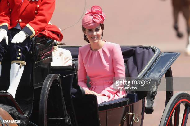 Catherine Duchess of Cambridge takes part in the annual Trooping The Colour parade on June 17 2017 in London England