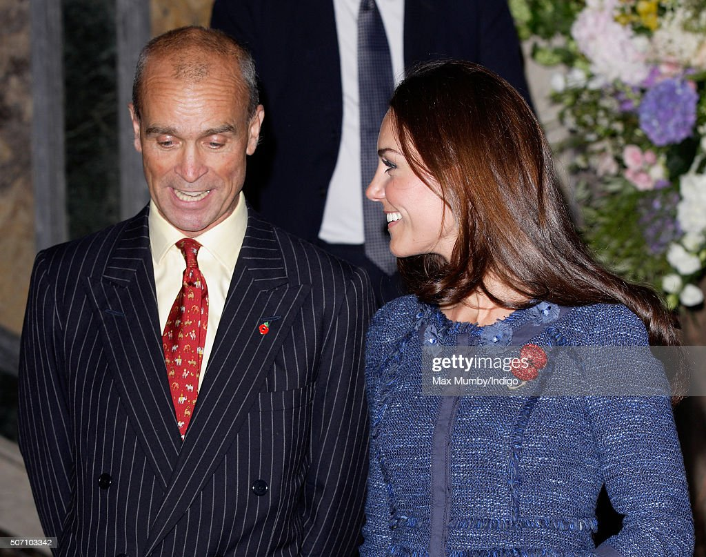 Catherine, Duchess of Cambridge talks with explorer Henry Worsley as she attends a reception to celebrate the Scott-Amundsen Centenary Race to the South Pole at Goldsmiths' Hall on April 26, 2012 in London, England.