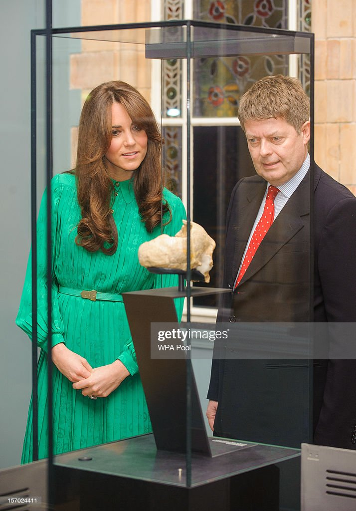 <a gi-track='captionPersonalityLinkClicked' href=/galleries/search?phrase=Catherine+-+Duchess+of+Cambridge&family=editorial&specificpeople=542588 ng-click='$event.stopPropagation()'>Catherine</a>, Duchess of Cambridge views an exhibit alongside Director of the Natural History Museum Doctor Michael Dixon as she attends the official opening of The Natural History Museums's Treasures Gallery at Natural History Museum on November 27, 2012 in London, England.