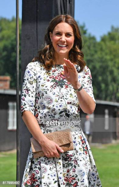 Catherine Duchess of Cambridge visit the former Nazi German concentration camp Stutthof during an official visit to Poland and Germany on July 18...