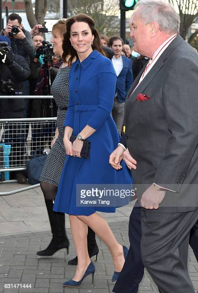Catherine Duchess Of Cambridge visits a Child Bereavement UK Centre at CBUK in Stratford on January 11 2017 in London England