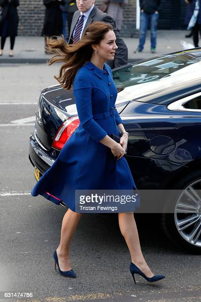 Catherine Duchess of Cambridge visits a Child Bereavement UK Centre at CBUK Stratford on January 11 2017 in London England