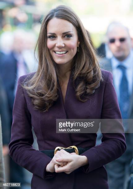 Catherine Duchess of Cambridge visits a community garden project at Elswick Park on October 10 2012 in Newcastle upon Tyne England