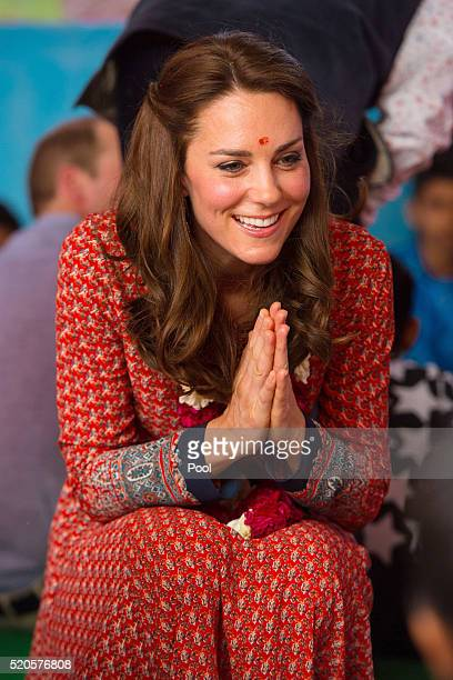 Catherine Duchess of Cambridge visits a contact centre run by the charity Salaam Baalak which provides emergency help and long term support to...