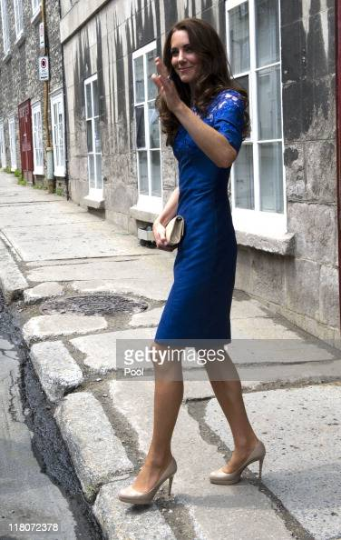 Catherine Duchess of Cambridge visits a drop in centre for homeless and young people on July 3 2011 in Quebec Canada The newly married Royal Couple...