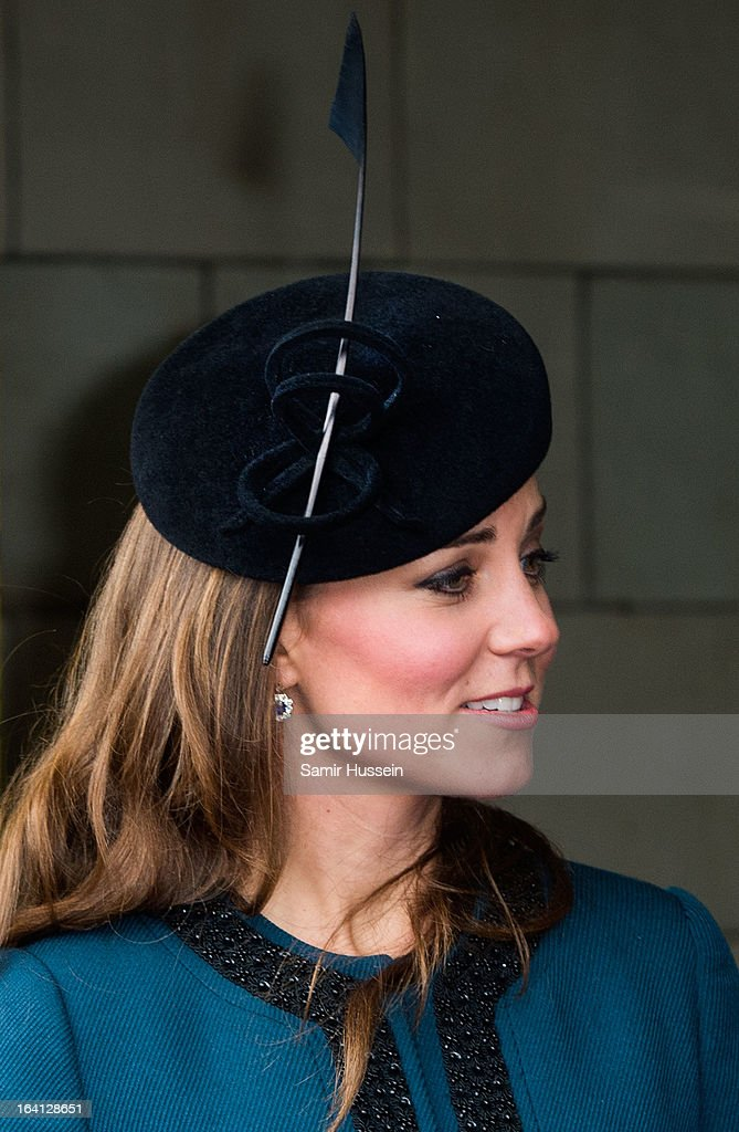 Catherine, Duchess of Cambridge visits Baker Street Underground Station to celebrate the Underground's 150th Birthday on March 20, 2013 in London, England.