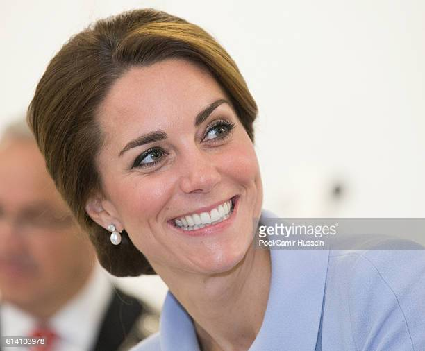Catherine Duchess of Cambridge visits Bouwkeet the social Makerspace of BospolderTussendijken on October 11 2016 in The Hague Netherlands
