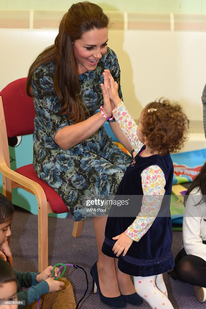 <a gi-track='captionPersonalityLinkClicked' href=/galleries/search?phrase=Catherine+-+Duchess+of+Cambridge&family=editorial&specificpeople=542588 ng-click='$event.stopPropagation()'>Catherine</a>, Duchess of Cambridge visits Cape Hill Children's Centre on February 18, 2015 in Smethwick, England.