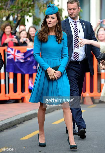 Catherine Duchess of Cambridge visits Cathedral Church at St Paul on April 13 2014 in Dunedin New Zealand The Duke and Duchess of Cambridge are on a...