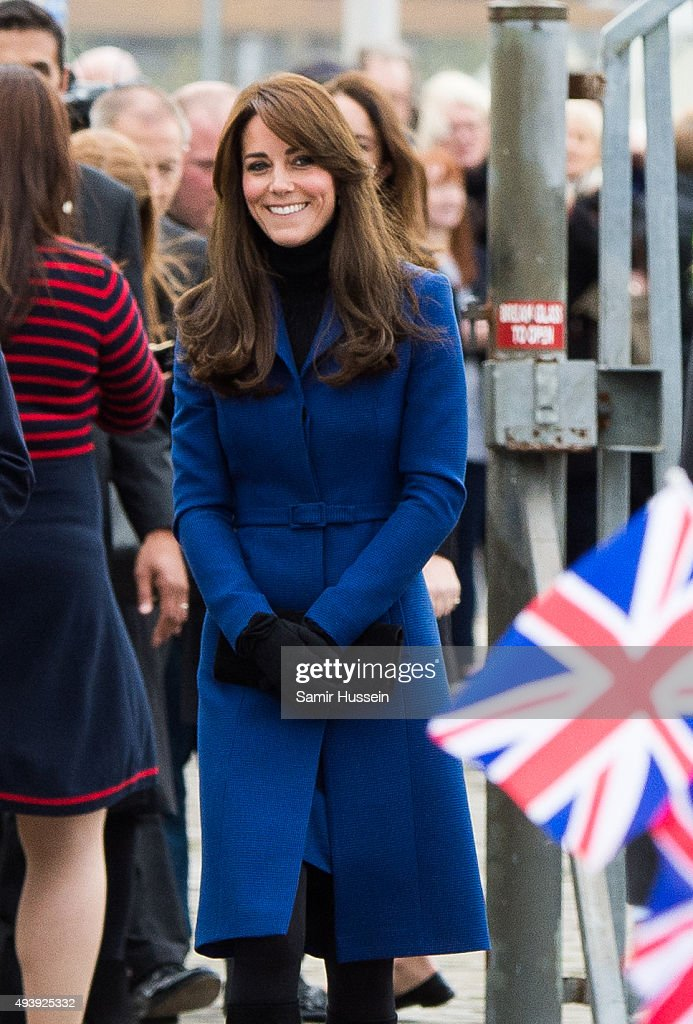 Catherine Duchess of Cambridge visits Discovery Point on October 23 2015 in Dundee Scotland