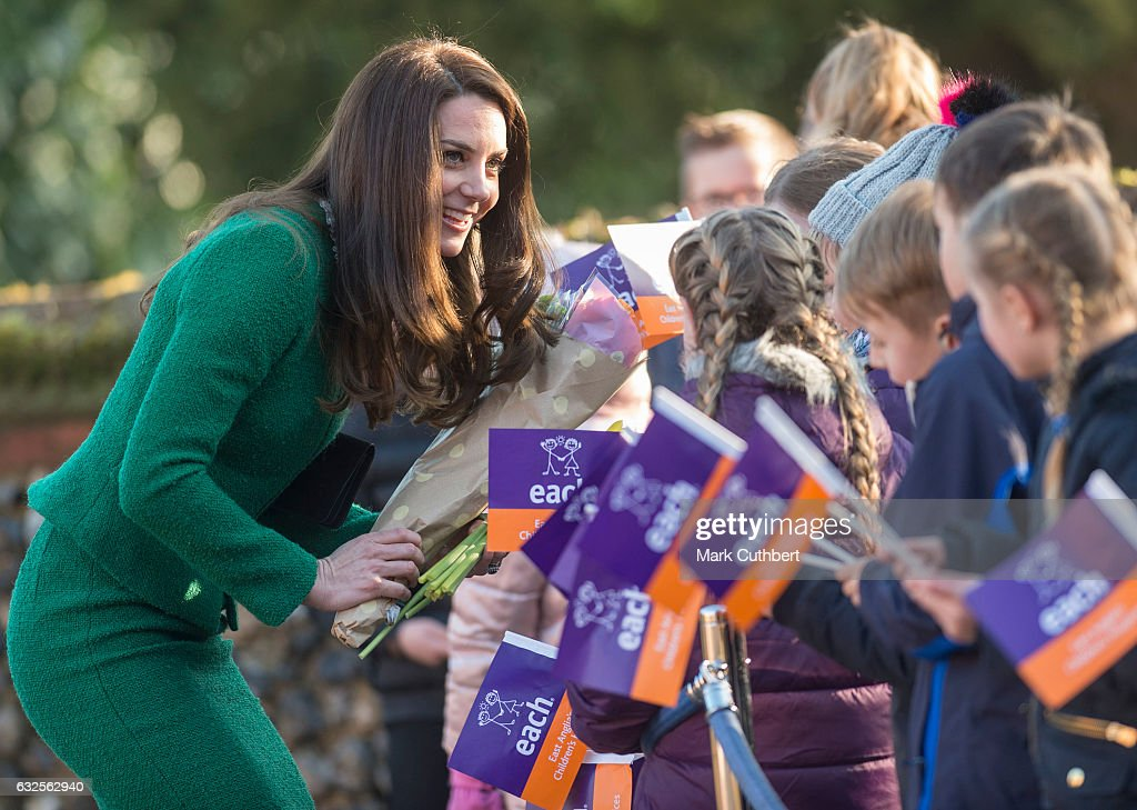 Catherine, Duchess of Cambridge visits EACH to get an update on The Nook Appeal on January 24, 2017 in Quidenham, Norfolk. HRH is Royal Patron of EACH (East Anglia's Children's Hospices) and launched The Nook Appeal in 2014.