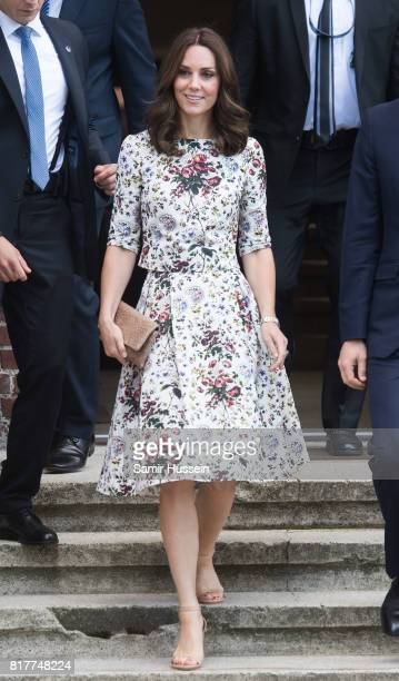 Catherine Duchess of Cambridge visits former Nazi Germany Concentration Camp Stutthof during an official visit to Poland and Germany on July 18 2017...