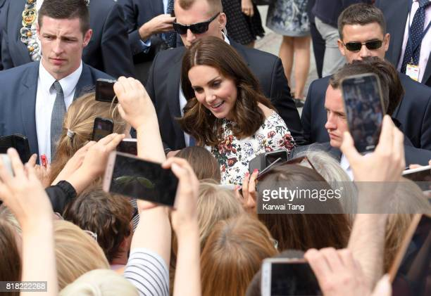 Catherine Duchess of Cambridge visits Gdansk Town Market during day 2 of the Royal Tour of Poland and Germany on July 18 2017 in Gdansk Poland