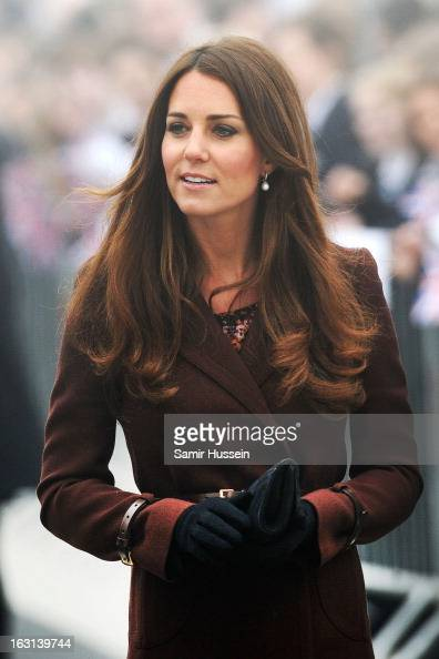 Catherine Duchess of Cambridge visits Havelock Academy during an official visit to Grimsby on March 5 2013 in Grimsby England