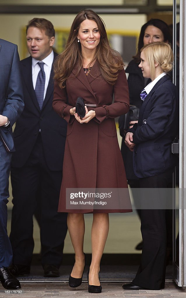 Catherine, Duchess of Cambridge visits Havelock Academy whilst carrying out a day of engagements on March 5, 2013 in Grimsby, England.