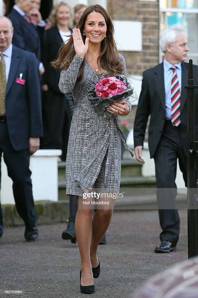 <a gi-track='captionPersonalityLinkClicked' href=/galleries/search?phrase=Catherine+-+Duchess+of+Cambridge&family=editorial&specificpeople=542588 ng-click='$event.stopPropagation()'>Catherine</a>, Duchess of Cambridge visits Hope House, an Action on Addiction women's treatment centre on February 19, 2013 in London, England.
