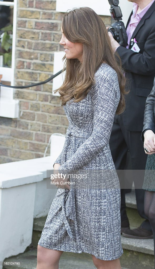 Catherine, Duchess of Cambridge visits Hope House an Action on Addiction women's treatment centre on February 19, 2013 in London, England.