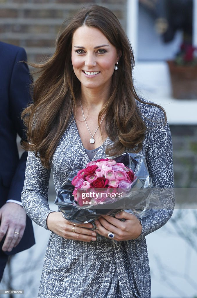 Catherine, Duchess of Cambridge visits Hope House, an Action on Addiction women's treatment centre, on February 19, 2013 in London, England.
