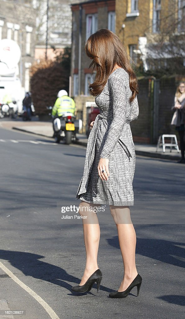 Catherine, Duchess of Cambridge visits Hope House, an Action on Addiction women's treatment centre on February 19, 2013 in London, England.