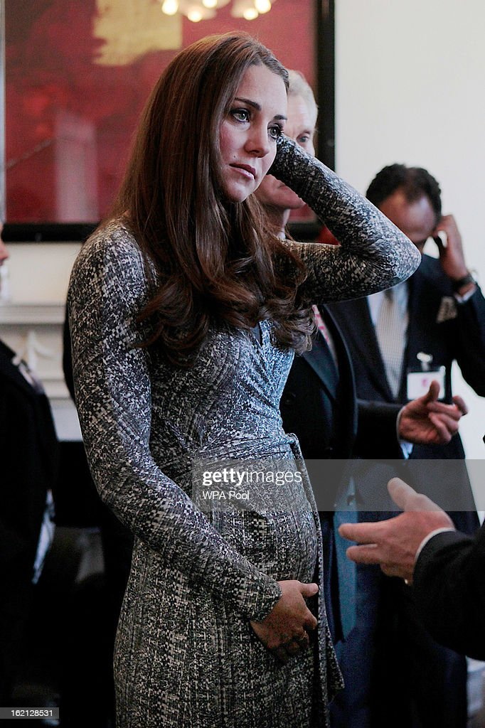 Catherine, Duchess of Cambridge visits Hope House residential centre, run by Action on Addiction for recovering addicts on February 19, 2013 in London, England. The Duchess, who is patron of the centre spent over an hour talking to residents at the centre, on her first public engagement since early January.