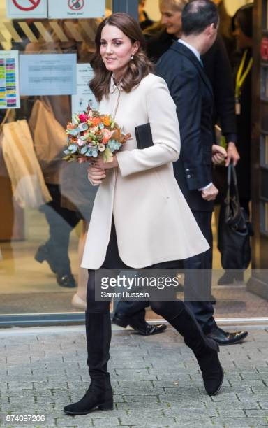 Catherine Duchess of Cambridge visits Hornsey Road Children's Centre on November 14 2017 in London England