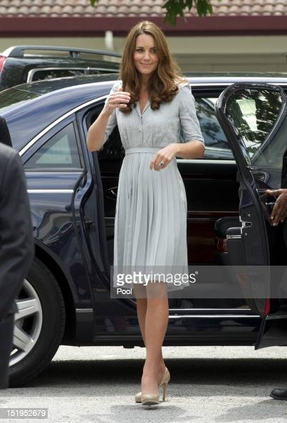Catherine Duchess of Cambridge visits Hospis Malaysia on Day 3 of Prince William Duke of Cambridge and Catherine Duchess of Cambridge's Diamond...