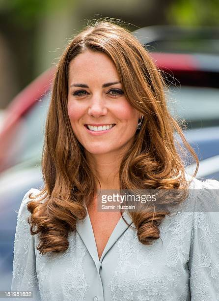 Catherine Duchess of Cambridge visits Hospis Malaysia on day 3 of the Diamond Jubilee Tour of the Far East on September 13 2012 in Kuala Lumpur...