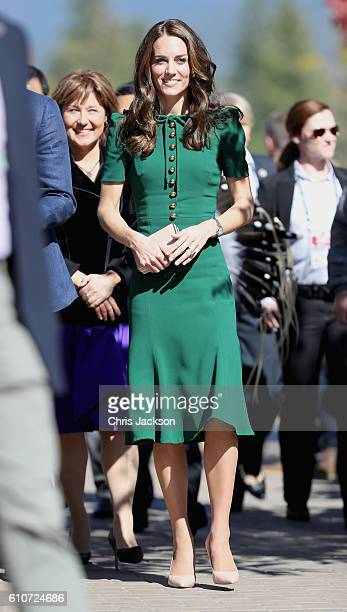 Catherine Duchess of Cambridge visits Kelowna University during the Royal Tour of Canada on September 27 2016 in Kelowna Canada Prince William Duke...