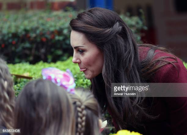 Catherine Duchess of Cambridge visits MIST a child and adolescent mental health project on February 22 2017 in Pontypool Wales