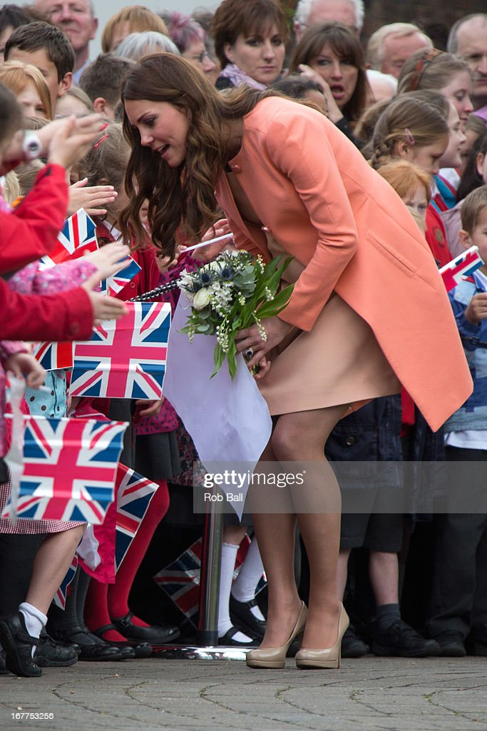 Catherine, Duchess of Cambridge visits Naomi House on April 29, 2013 in Winchester, England.