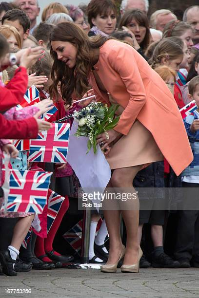 Catherine Duchess of Cambridge visits Naomi House on April 29 2013 in Winchester England