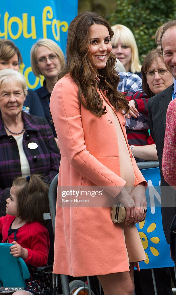 Catherine, Duchess of Cambridge visits Naomi House on April 29, 2103 in Winchester, England.