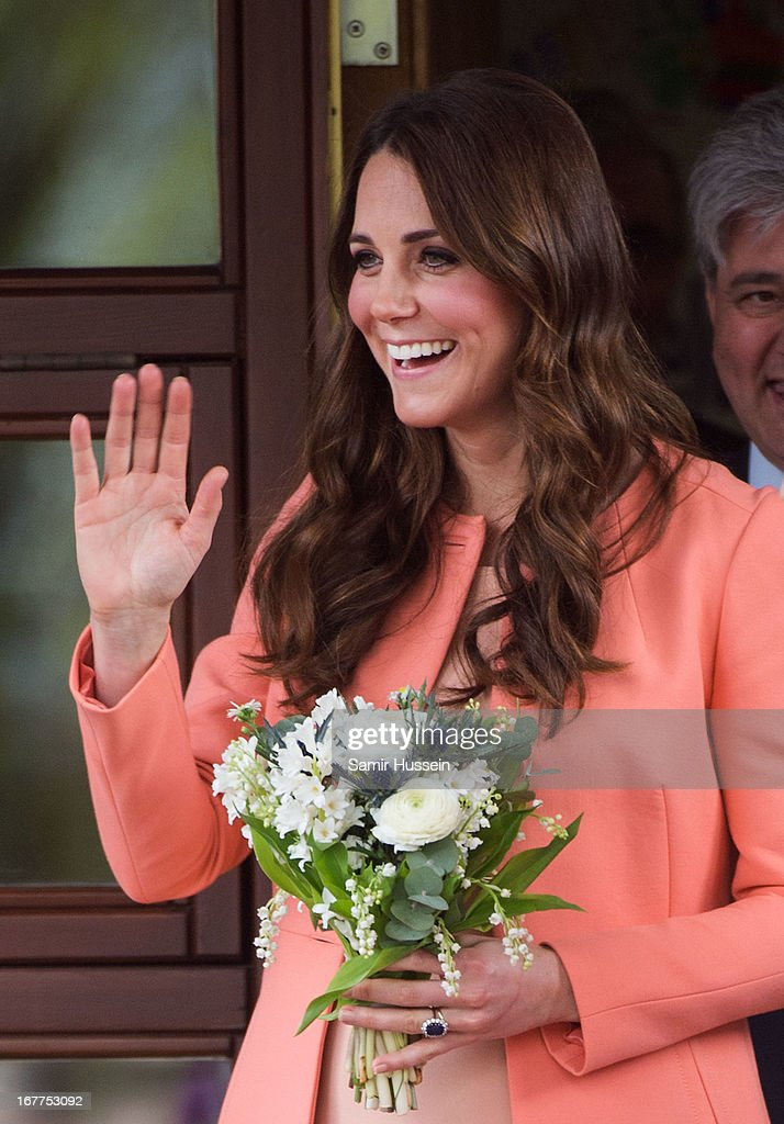 Catherine, Duchess of Cambridge visits Naomi House on April 29, 2103 near Winchester, England.