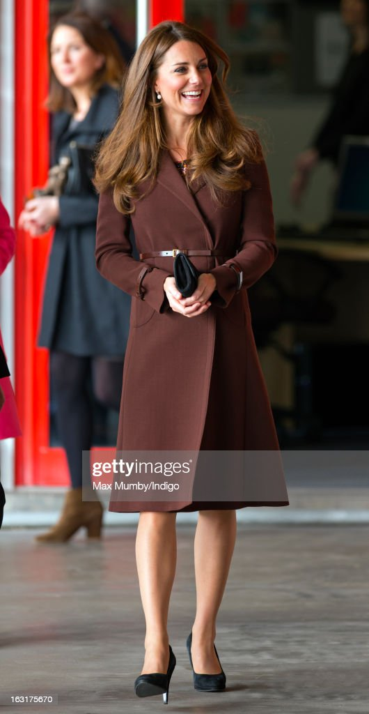 Catherine, Duchess of Cambridge visits Peaks Lane Fire Station whilst carrying out a day of engagements on March 5, 2013 in Grimsby, England.