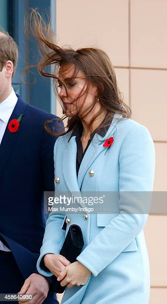 Catherine Duchess of Cambridge visits Pembroke Refinery on November 8 2014 in Pembroke Wales