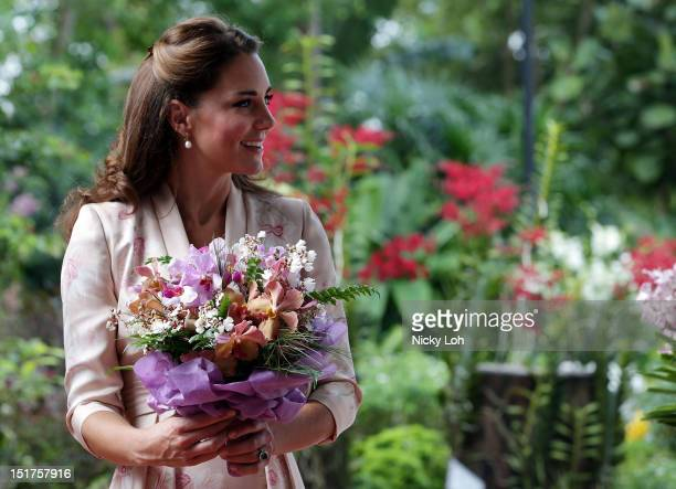 Catherine Duchess of Cambridge visits Singapore Botanical Gardens on day 1 of a Diamond Jubilee tour on September 11 2012 in Singapore Prince William...