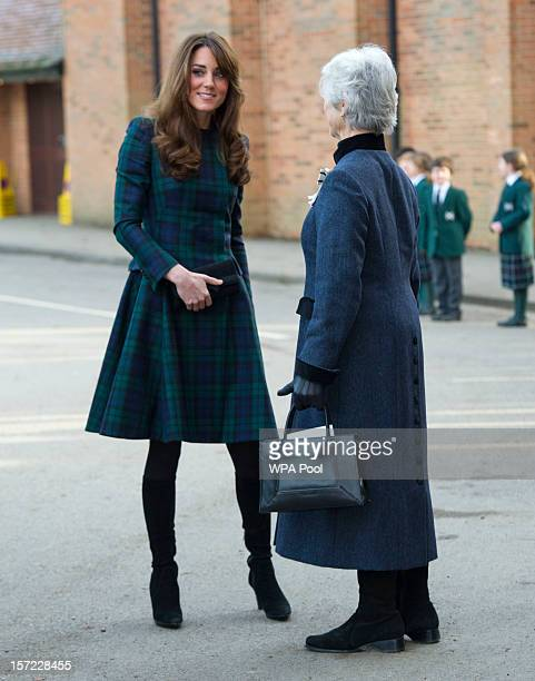 Catherine Duchess of Cambridge visits St Andrew's School on November 30 2012 in Pangbourne England The Duchess returned to her old school she...