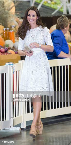 Catherine Duchess of Cambridge visits Sydney Royal Easter Show on April 18 2014 in Sydney Australia The Duke and Duchess of Cambridge are on a...