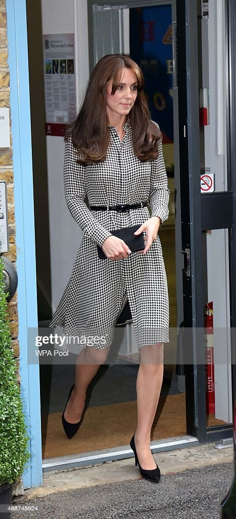 Catherine Duchess of Cambridge visits the Anna Freud Centre on September 17 2015 in London England The visit was for the Duchess to see how the...