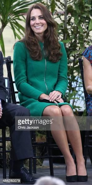 Catherine Duchess of Cambridge visits the Avanti Drome on April 12 2014 in Hamilton New Zealand The Duke and Duchess of Cambridge are on a threeweek...
