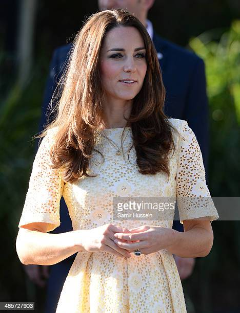 Catherine Duchess of Cambridge visits the Bilby Enclosure at Taronga Zoo on April 20 2014 in Sydney Australia The Duke and Duchess of Cambridge are...