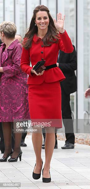 Catherine Duchess of Cambridge visits the Botanical Gardens on April 14 2014 in Christchurch New Zealand The Duke and Duchess of Cambridge are on a...