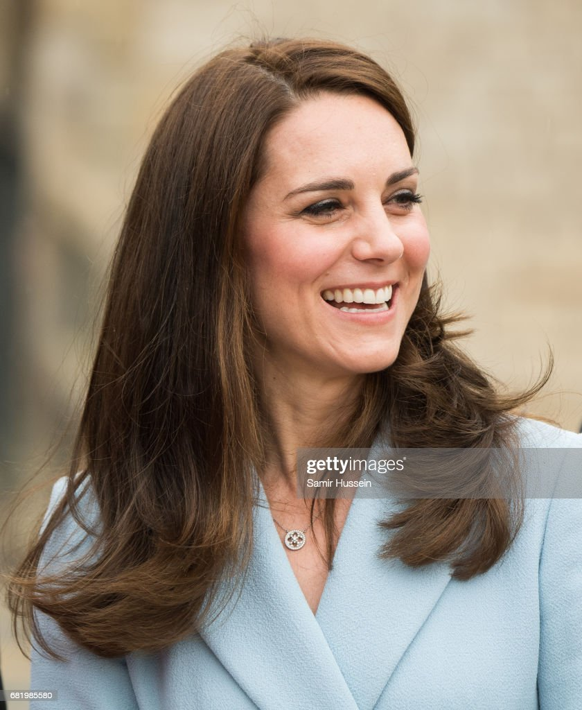 Catherine, Duchess of Cambridge visits the Drai Eechelen Museum during a one day visit on May 11, 2017 in Luxembourg. The Duchess will attend a series of engagements to celebrate the cultural and historic ties between the UK and Luxembourg and the official commemoration of the 1867 Treaty of London, which confirmed Luxembourg's independence and neutrality.