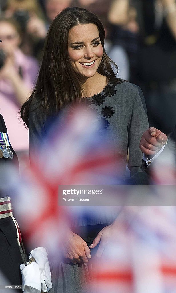 Catherine, Duchess of Cambridge visits the Dulwich Picture Gallery on March 15, 2012 in London, England. The Duchess of Cambridge joined her parents-in-law Prince Charles, Prince of Wales and Camilla, Duchess of Cornwall on a royal visit to the gallery to celebrate their shared love of the arts and see work done by the Prince's Foundation for Children and the Arts.