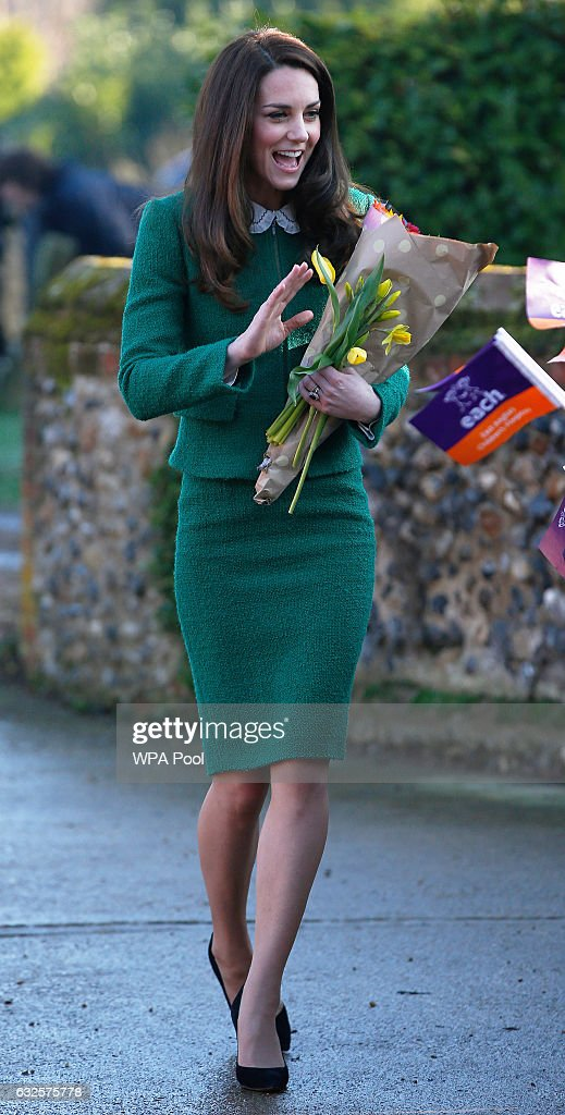 Catherine, Duchess of Cambridge visits the East Anglia's Children's Hospices (EACH) on January 24, 2017 in Quidenham, Norfolk. HRH is Royal Patron of EACH and launched The Nook Appeal in 2014.