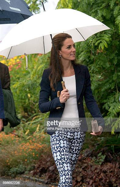 Catherine Duchess of Cambridge visits the Eden Project in Cornwall on September 2 2016 near St Austell England